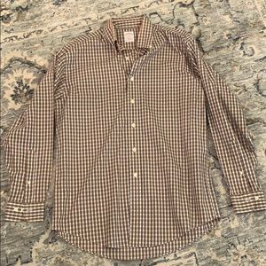 Brooks Brothers plaid button down non iron